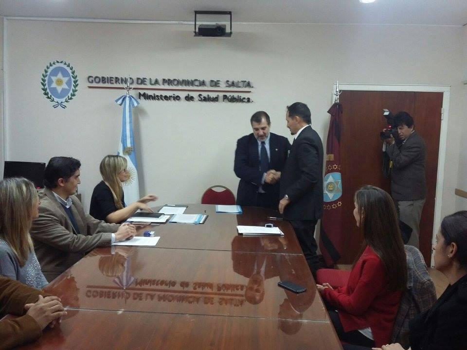 Convenio con el Ministerio de Salud Pública de Salta