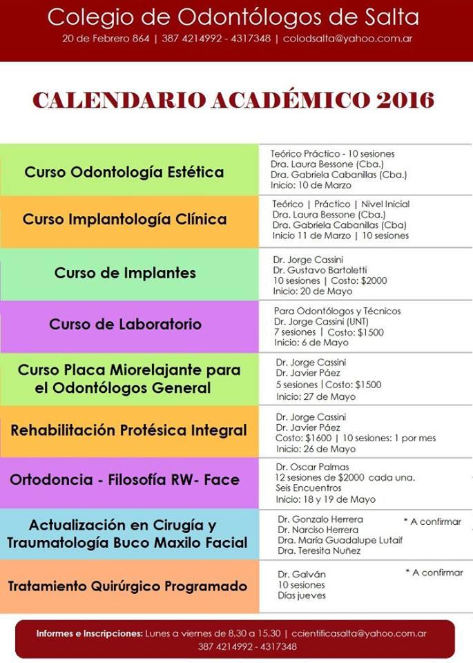 Calendario Académico 2016