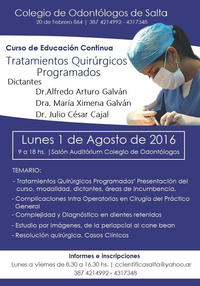 Tratamientos Quirúrgicos Programados