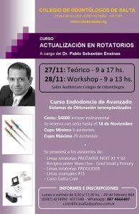 Curso Actualización en Rotatorios - Dr. Pablo Ensinas