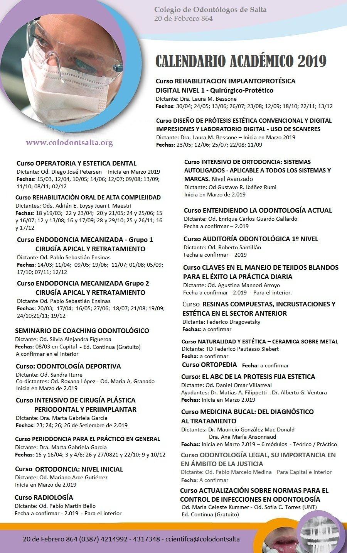 Calendario Académico 2019