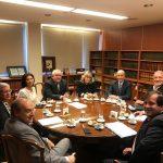 Reunión con jueces de la Corte de Justicia