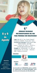 1º Jornadas solidarias, multidisciplinarias del NOA para personas con discapacidad
