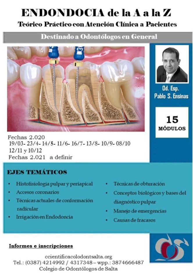 """Curso: Endodoncia de la """"A"""" a la """"Z"""" - Capital"""