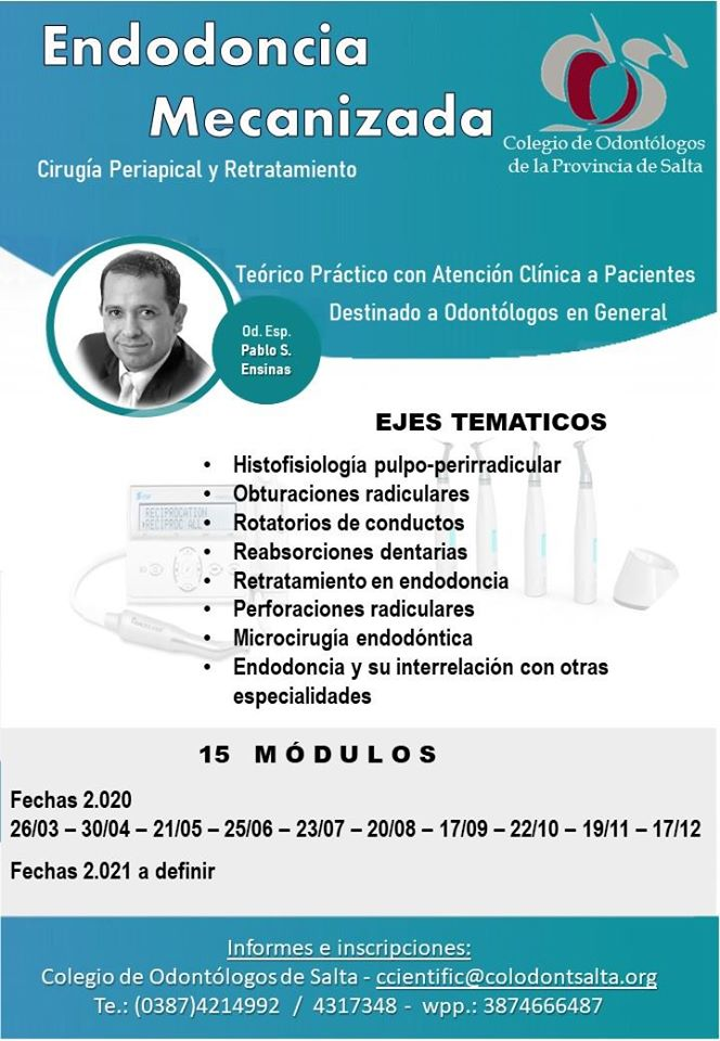 Curso: Endodoncia Mecanizada - Capital