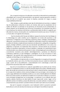 Resolución 01/09 de la Federación Argentina de Colegios de Odontólogos - FACO