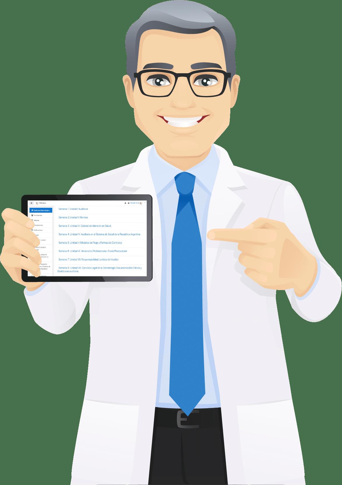 Doctor con iPad
