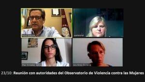 Reunión con autoridades del Observatorio de Violencia Contra las Mujeres de Salta