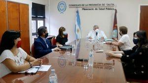 Reunión con el Ministro de Salud Pública de Salta