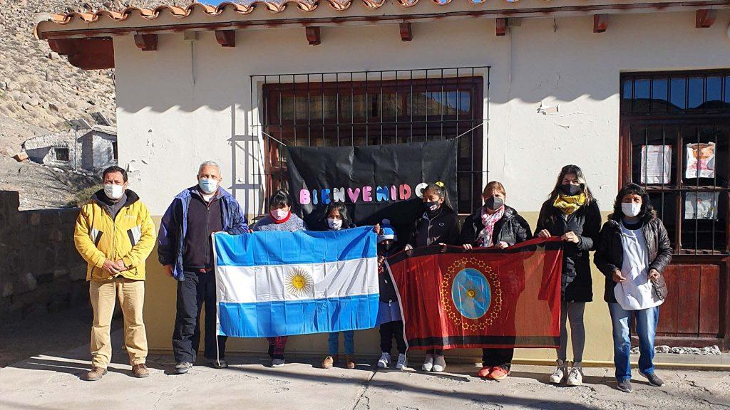 Donativos a la escuela de Santa Rosa de Tastil