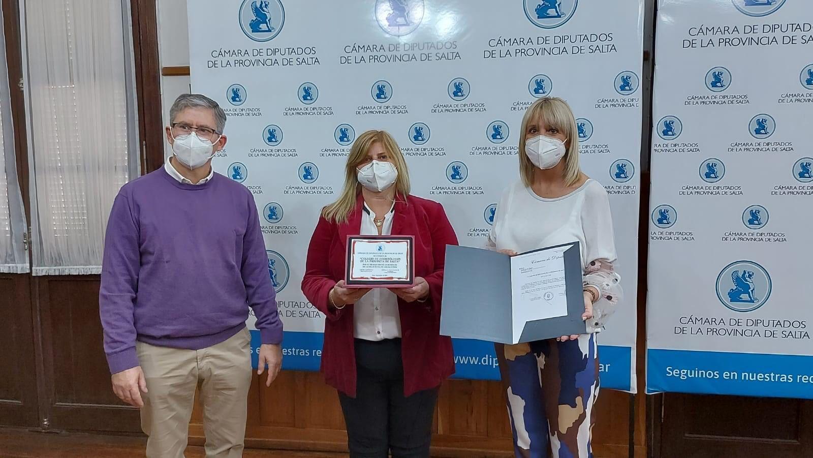 Paola Corai reconocida en Cámara de Diputados de Salta